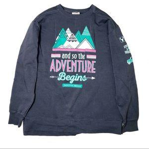 Jadelynn Brooke Garment Dyed Sweatshirt Blue M